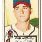 1952 (original) Topps baseball card #140 John Antonelli VG