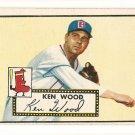 1952 (original) Topps baseball card #139 Ken Wood VG