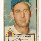 1952 (original) Topps baseball card #145  Joe Haynes fair