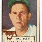 1952 (original) Topps baseball card #164 (B) Walt Dubiel G/VG