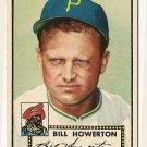 1952 (original) Topps baseball card #167 Bill Howerton EX
