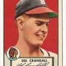 1952 (original) Topps baseball card #162 Del Crandell VG/EX