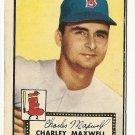 1952 (original) Topps baseball card #180 Charley Maxwell G/VG