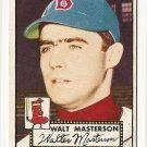 1952 (original) Topps baseball card #186 Walt Masterson EX