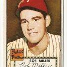 1952 (original) Topps baseball card #187 (B) Bob Miller EX