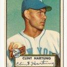 1952 (original) Topps baseball card #141 Clint Hartung NM-