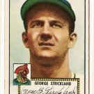 1952 (original) Topps baseball card #197 (B) George Strickland EX-