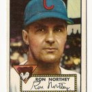 1952 (original) Topps baseball card #204 (B) Ron Northey EX