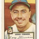 1952 (original) Topps baseball card #217 (B) George Stirnweiss EX