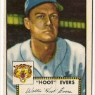1952 (original) Topps baseball card #222 Hoot Evers VG/EX