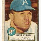 1952 (original) Topps baseball card #226 (B) Dave Philley good-