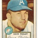 1952 (original) Topps baseball card #226 (C) Dave Philley VG