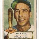 1952 (original) Topps baseball card #232 Billy Cox good