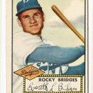 1952 (original) Topps baseball card #239 (B) Rocky Bridges EX