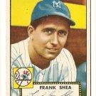 1952 (original) Topps baseball card #248 Frank Shea NM