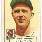 1952 (original) Topps baseball card #240 Jack Phillips EX