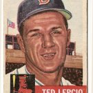1953 Topps baseball card #18 (B) Ted Lepcio, Fair/Good, Boston Red Sox