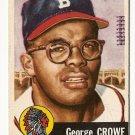 1953 Topps baseball card #3 George Crowe VG/EX