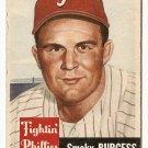1953 Topps baseball card #10 Smoky Burgess Good