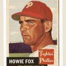 1953 Topps baseball card #22 Howie Fox VG