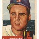 1953 Topps baseball card #49 (B) Faye Throneberry VG/EX, Boston Red Sox