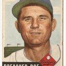 1953 Topps baseball card #254 Preacher Roe VG Brooklyn Dodgers