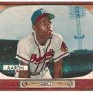 1955 Bowman baseball card #179 Henry (Hank) Aaron EX