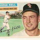 1956 Topps baseball card #195 (B) George Kell EX Chicago White Sox