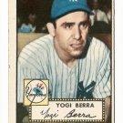 1952 (original) Topps baseball card #191 Yogi Berra VG+