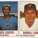 1978 Hostess baseball cards 54 - Darrell Evans, 119 - Cecil Cooper