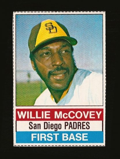 1976 Hostess Baseball Card 124 Willie Mccovey San Diego