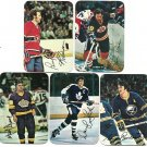 1977-78 Topps Glossy hockey cards 4, 14, 16, 18, 20, Dionne Perreault Ratelle Robinson Sittler