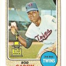 1968 Topps baseball card #80 Rod Carew VG Minnesota Twins