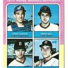 1975 Topps baseball card #620 Gary Carter rookie RC NM Marc Hill, Danny Meyer, Leon Roberts
