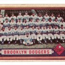 1957 Topps baseball card #324 Brooklyn Dodgers team card EX (very light surface crease right side)