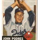 1953 Topps baseball card #263 Johnny (John) Podres EX- Brooklyn Dodgers