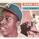 1956 Topps baseball card #31 Hank Aaron EX Milwaukee Braves