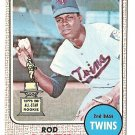1968 Topps baseball card #80 (B) Rod Carew EX/NM Minnesota Twins