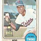 1968 Topps baseball card #80 (D) Rod Carew VG Minnesota Twins