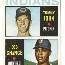 1964 Topps baseball card #146 Tommy John & Bob Chance RC rookie EX/NM Cleveland Indians