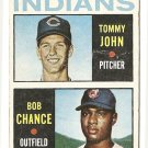 1964 Topps baseball card #146 (B) Tommy John & Bob Chance RC rookie G/VG Cleveland Indians