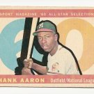 1960 Topps baseball card #566 Hank Aaron All-Star EX Sport Magazine