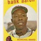 1959 Topps baseball card #380 (C) Hank Aaron EX- Milwaukee Braves