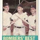 1963 Topps baseball card #173 Bomber's Best - Mickey Mantle, Tom Tresh, Bobby Richardson EX