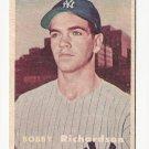 1957 Topps baseball card #286 Bobby Richardson rookie RC EX+ New York Yankees