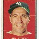 1961 Topps baseball card #471 Phil Rizzuto MVP VG (very very light corner crease)
