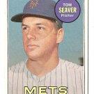 1969 Topps baseball card #480 (B) Tom Seaver EX New York Mets