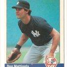 1984 Fleer GLOSSY baseball card #131 Don Mattingly VG (glossy coating starting to peel)