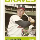 1964 Topps baseball card #35 Eddie Ed Mathews EX Milwaukee Braves