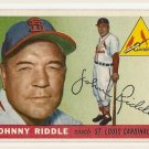 1955 Topps baseball card #98 (B) Johnny Riddle EX St. Louis cardinals